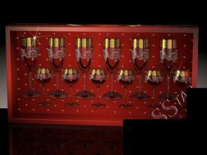 Фото Стеклоизделия, Наборы подарочные Набор с бокалами Эдем рисунок Барокко