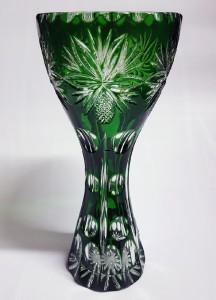 Фото Хрустальная посуда, Вазы из цветного хрусталя Ваза для цветов из цветного хрусталя зеленая
