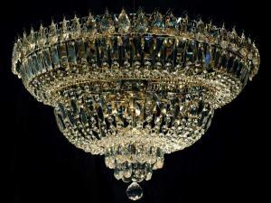 Фото Люстры потолочные Потолочная люстра Водопад Хрустальный
