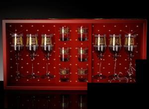 Фото Стеклоизделия, Наборы подарочные Набор с бокалами Тулип рисунок Версаль