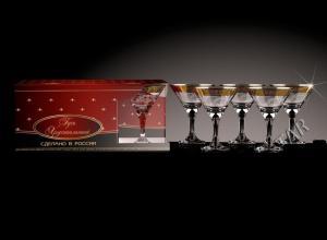 Фото Стеклоизделия, Фужеры, бокалы, рюмки, бренди, мартини Бокалы Мартини рисунок Барокко