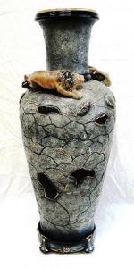 Фото Вазы напольные керамические, Ваза напольная керамическая Большая Сахара лев