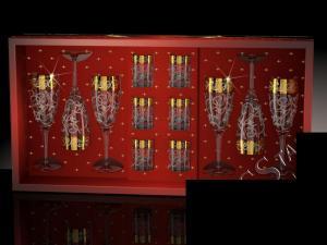 Фото Стеклоизделия, Наборы подарочные Набор с бокалами Эдем рисунок Вдохновение