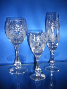 Фото Хрустальная посуда, Фужеры, бокалы, рюмки Хрустальные бокалы, фужеры, рюмки