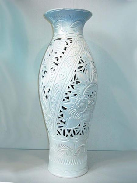 Керамическая ваза напольная Эллада Резка