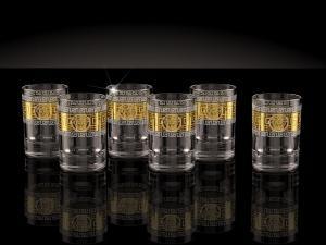 Фото Стеклоизделия, Фужеры, бокалы, рюмки, бренди, мартини Стопки рисунок Версаль