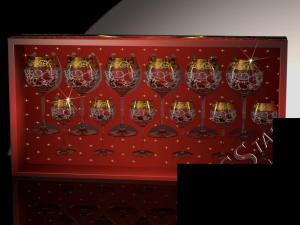 Фото Стеклоизделия, Наборы подарочные Набор с фужерами Эдем рисунок Вдохновение