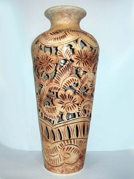 Керамическая ваза напольная Виктория Резка
