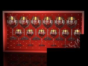 Фото Стеклоизделия, Наборы подарочные Набор с фужерами Эдем рисунок Барокко