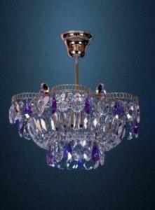 Фото Люстры подвесные Хрустальная люстра цветная Ромашка