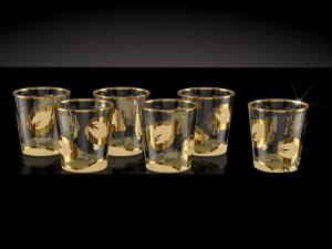 Фото Стеклоизделия, Фужеры, бокалы, рюмки, бренди, мартини Стопки рисунок Лист