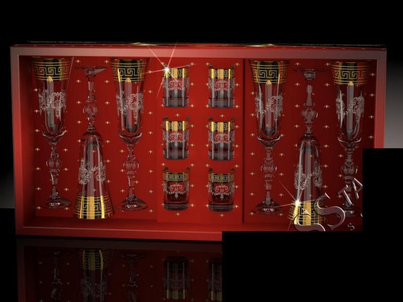 Набор с бокалами Эвис рисунок Барокко