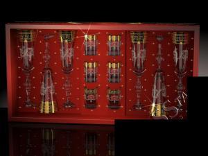 Фото Стеклоизделия, Наборы подарочные Набор с бокалами Эвис рисунок Барокко