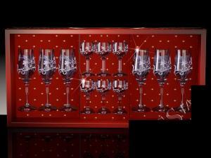 Фото Стеклоизделия, Наборы подарочные Набор с бокалами Тулип рисунок Изящная ветвь дымка
