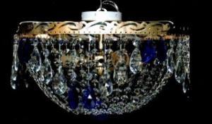 Фото Люстры потолочные Хрустальна люстра цветная