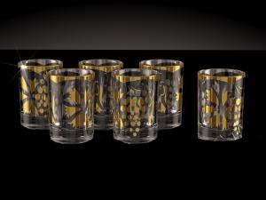 Фото Стеклоизделия, Фужеры, бокалы, рюмки, бренди, мартини Стопки с напылением