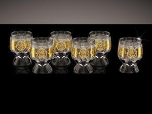 Фото Стеклоизделия, Фужеры, бокалы, рюмки, бренди, мартини Стопки Акватик рисунок Версаль