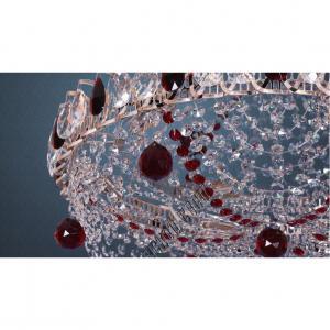 Фото Потолочные люстры Хрустальная люстра Водоворот Роза арт 247 цветная