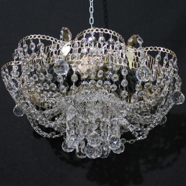 Хрустальная люстра Ромашка Шар 4 лампы