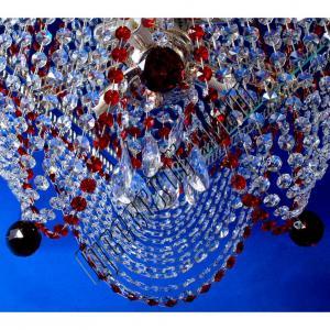 Фото Потолочные люстры Хрустальная люстра Верона Бутон Цветная