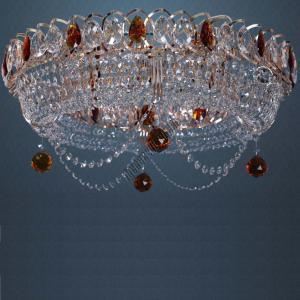 Фото Потолочные люстры Хрустальная люстра Кольцо Ожерелье цветная