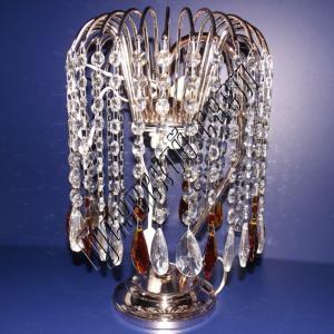 Фото Настольные лампы Хрустальная настольная лампа Каскад Журавлик цветной