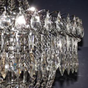 Фото Длинные люстры Хрустальная люстра Водопад Перо с подвесом