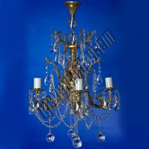 Фото Бронзовые люстры Бронзовая люстра 4 лампы
