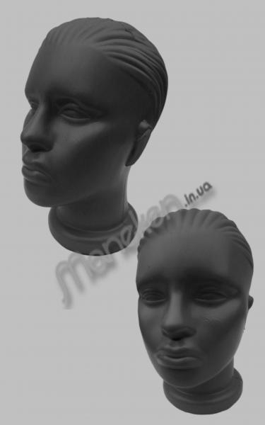 Манекен головы женский черный