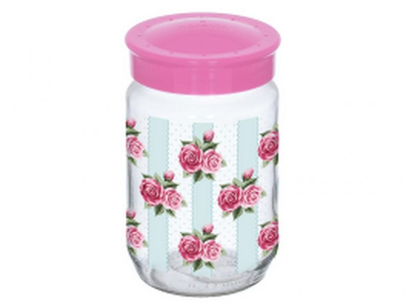 Банка стеклянная Роза 1000 мл