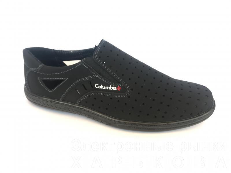 Туфли черный мужские на резинках Cardinal D-1