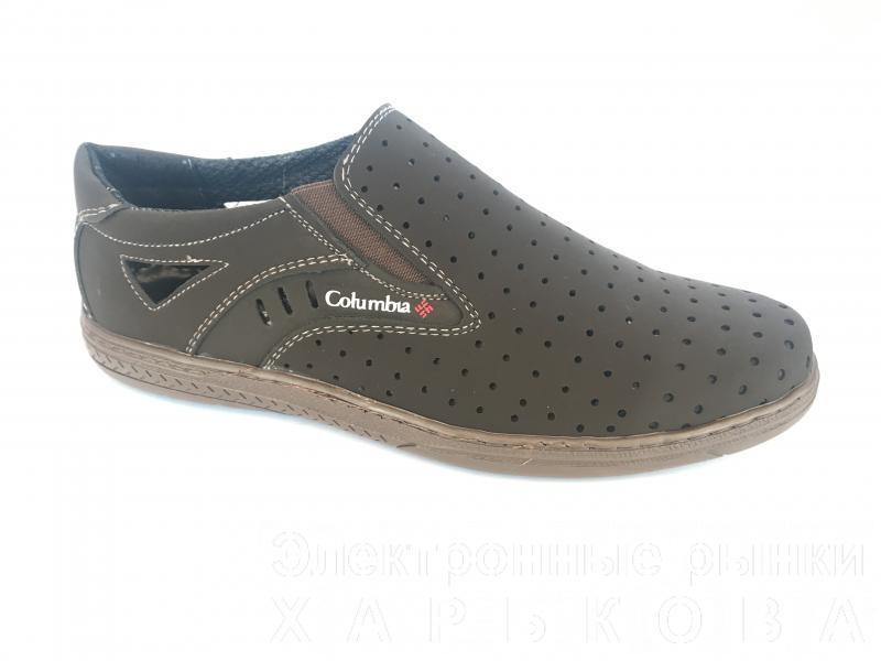 Туфли коричневый мужские на резинках Cardinal D-1