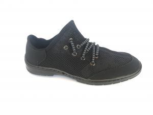 Фото Туфли мужские, Туфли мужские летние Туфли спортивный на шнурках мужские черный сетка ANKOR