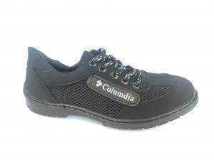 Фото Туфли мужские, Туфли мужские летние Туфли на шнурках мужские черный сетка ANKOR - 5