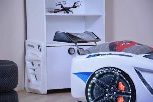 Фото КРОВАТИ-МАШИНЫ ИЗ ПЛАСТИКА Кровать-машина «MVN 1 FULL», цвет белый