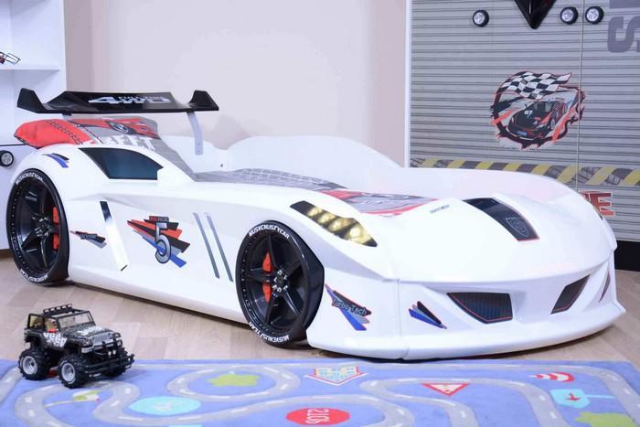 Кровать-машина «Jaguar/Speedy Boy», цвет белый