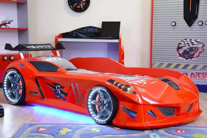 Кровать-машина «Jaguar/Speedy Boy», цвет красный