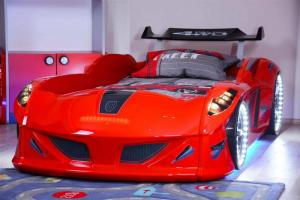 Фото КРОВАТИ-МАШИНЫ ИЗ ПЛАСТИКА Кровать-машина «Jaguar/Speedy Boy», цвет красный