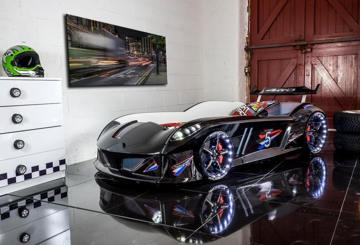 Кровать-машина «Jaguar/Speedy Boy», цвет черный