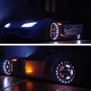 Фото КРОВАТИ-МАШИНЫ ИЗ ПЛАСТИКА Кровать-машина «GT-999 LUX», цвет белый