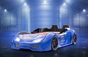 Фото КРОВАТИ-МАШИНЫ ИЗ ПЛАСТИКА Кровать-машина «GT-999 LUX», цвет синий