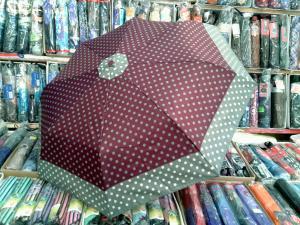 Фото  зонты женские зонт женский с горошком по кайме