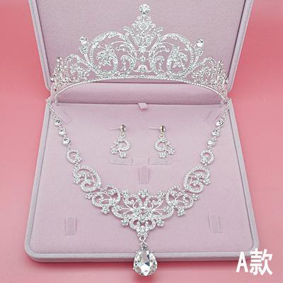 Комплект Диадема+ожерелье+серьги