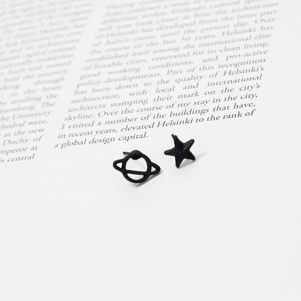 Серьги -Сатурн и звезда-
