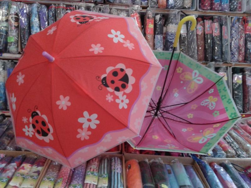 Детский зонт с печатью  животных