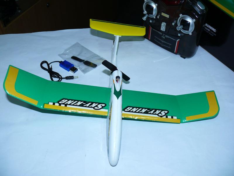 Самолет-планер мини YT-103 размах крыла 36см