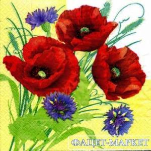 Фото Салфетки для декупажа, Цветы Салфетка Маки СД-017