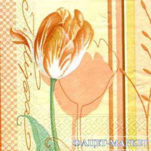 Фото Салфетки для декупажа, Цветы Салфетка Тюльпан СД-045