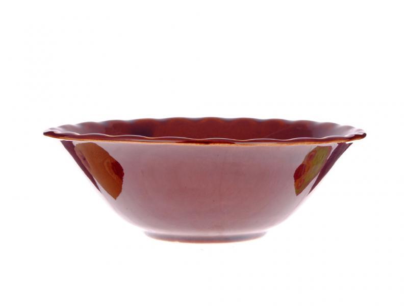Тарелка керамическая глубокая Коричневая 600мл