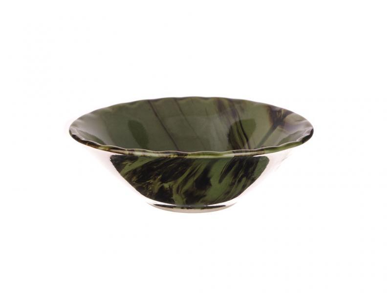 Тарелка керамическая глубокая Радуга Малахит 600мл